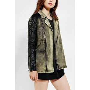 Silence + Noise Oversized Studded Moto Jacket
